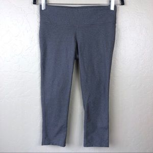 prAna Grey Crop Workout Leggings